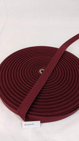 "Cotton Twill Tape 3/4"" Burgundy"