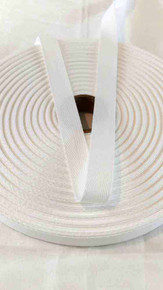 Heavyweight 1/2 inch white twill tape, 72 yard roll