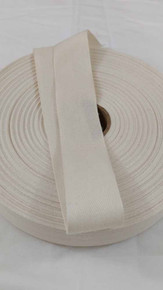"Lightweight 1.25"" natural twill tape, 72 yard roll"