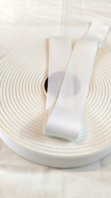 "Lightweight 1.25"" white twill tape, 72 yard roll"
