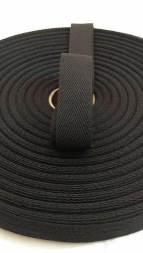 """Heavyweight 1"""" black twill tape"""