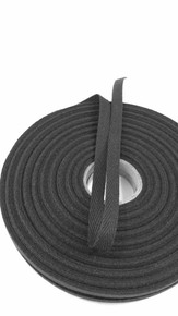 "Heavyweight 3/8"" black twill tape, 72 yard roll"