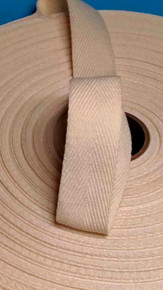 "Heavyweight 1"" natural twill tape, 72 yard roll"