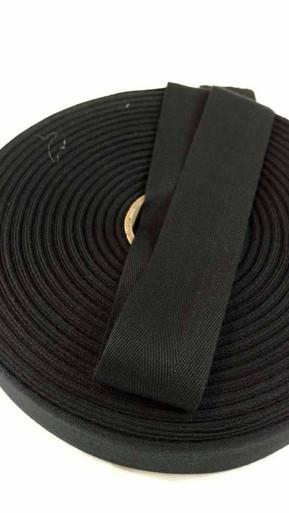 """Lightweight 1.5"""" black twill tape, 72 yard roll"""