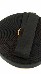 "Lightweight 1.5"" black twill tape, 72 yard roll"