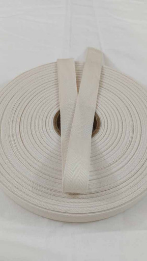 "Lightweight 3/4"" natural twill tape, 72 yard roll"
