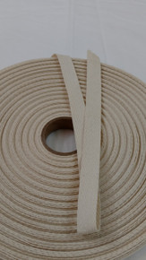 "Heavyweight 5/8"" natural twill tape, 72 yard roll"