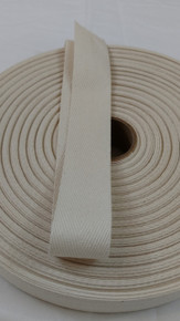 "Heavyweight 1.25"" natural twill tape, 72 yard roll"