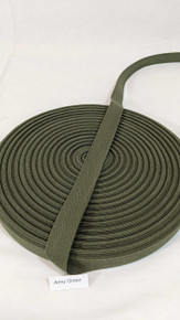 "Cotton Twill Tape 3/4"" Army Green"
