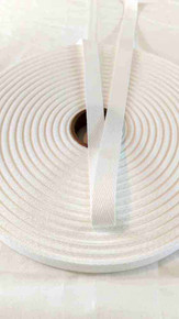 Heavyweight 5/8 inch white twill tape, 72 yard roll
