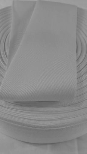 Heavyweight 3 inch white twill tape, 72 yard roll