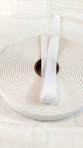"Lightweight 3/4"" white twill tape, 72 yard roll"