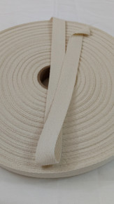 "Heavyweight 3/4"" natural twill tape, 72 yard roll"