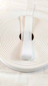 "Lightweight 1"" white twill tape, 72 yard roll"