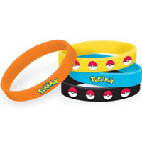 Pikachu & Friends Rubber Bracelets 4 Count