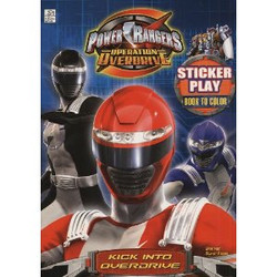 Power Rangers Coloring Book with Stickers