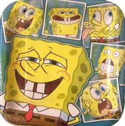 "9"" SQ. Plates Spongebob"