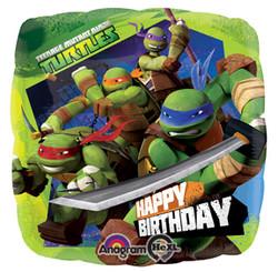 """Ninja Turtles 17"""" Happy Birthday Balloon"""