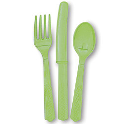 Kiwi (Lime Green) Assorted Cutlery 24 Count