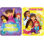 Dora & Friends Invitation/Thank You Combo Pack 8 Count
