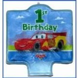 Cars 1st Birthday Candle