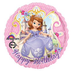 "Sofia the First 17"" Happy Birthday Balloon"