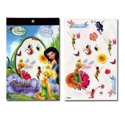TinkerBell Temporary Tattoo Book 4 Sheets