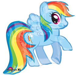"My Little Pony Rainbow Dash 28"" SuperShape Balloon"