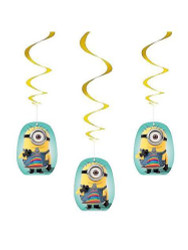 Despicable Me Hanging Swirl Decorations 3 Count