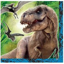 Jurassic World Beverage Napkins 16 Count