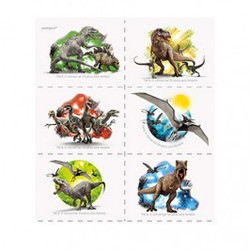 Jurassic World Tattoo Sheets 4 Count