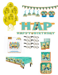 DESPICABLE ME SUPER PACK FOR 8 GUEST *** Bonus Candle Set
