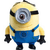 "Despicable Me Stuart Minion Plush 6 3/4 "" with Clip-On  and Zippered Compartment"