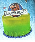 JURASSIC WORLD CAKE PLAQUE