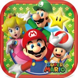 "Super Mario Brothers 7"" Dessert Plates 8 Count"