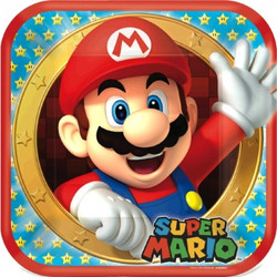 "Super Mario Brothers 9"" Dinner Plates 8 Count"