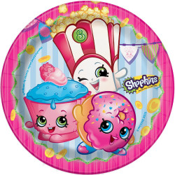 "ShopKins 7"" Dessert Plates 8 Count"