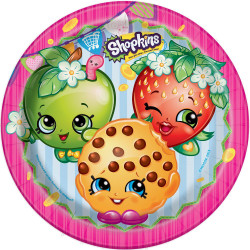 "ShopKins 9"" Dinner Plates 8 Count"