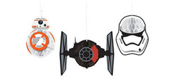 Star Wars Episode VII The Force Awakens Honeycomb Balls 3ct