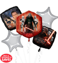 Star Wars Episode VII The Force Awakens Balloon Bouquet 5 Foil Balloons