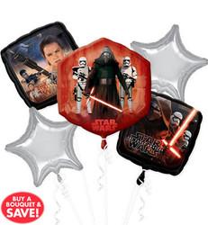 Star Wars Episode VII The Force Awakens Balloon Bouquet 5 Foil Balloons