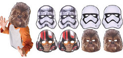 Star Wars Episode VII The Force Awakens Masks 8ct
