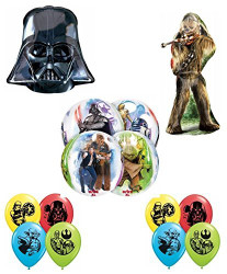 Star Wars DELUXE Birthday Party Balloon Decoration Kit