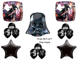 STAR WARS DARTH VADER BIRTHDAY PARTY Balloons Decorations Supplies Kit