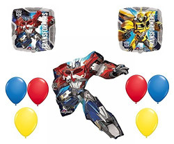 Transformers 9 Piece Balloon Bouquet