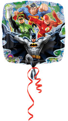 "18"" SQUARE JUSTICE LEAGUE FOIL BALLOON"