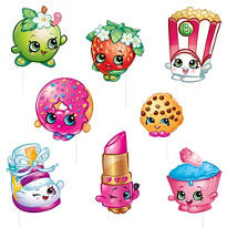 Shopkins Photo Booth Props 8 count