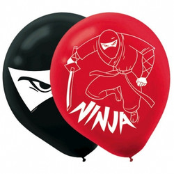 "Ninja Balloons Latex 6 Count 12"" Party Supplies"