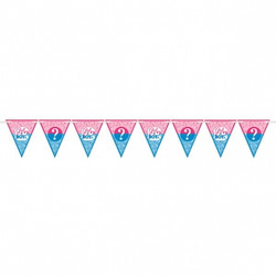 Girl or Boy? Gender Reveal Paper Pennant Banner