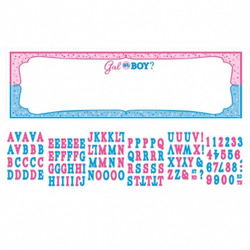 Girl or Boy? Gender Reveal Personalized Giant Sign Banner Kit